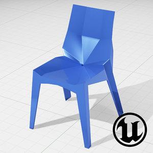 unreal karim rashid chair 3d model