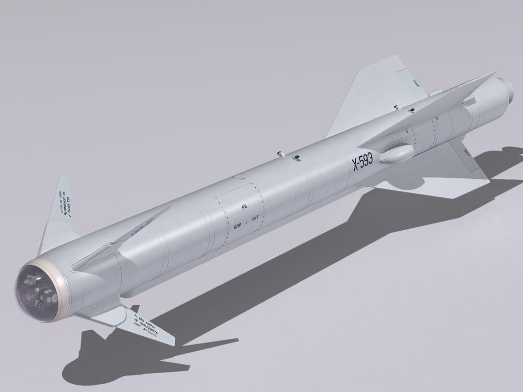 3d 3ds kh-59 missile