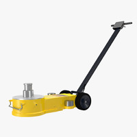 3d model floor jack yellow