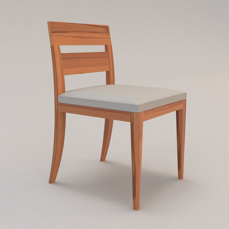 3d model of archipel chair upholstered outdoor