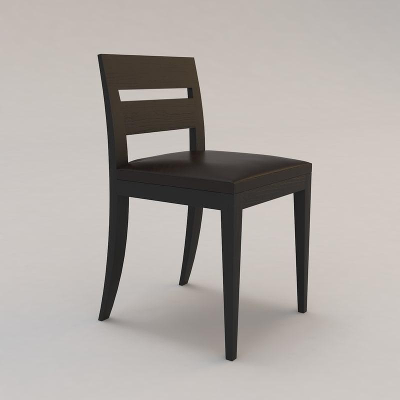 archipel chair christian liaigre 3d model
