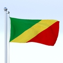 Republic of the Congo flag 3D models