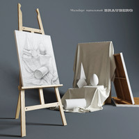 3d model easel brauberg composition plaster