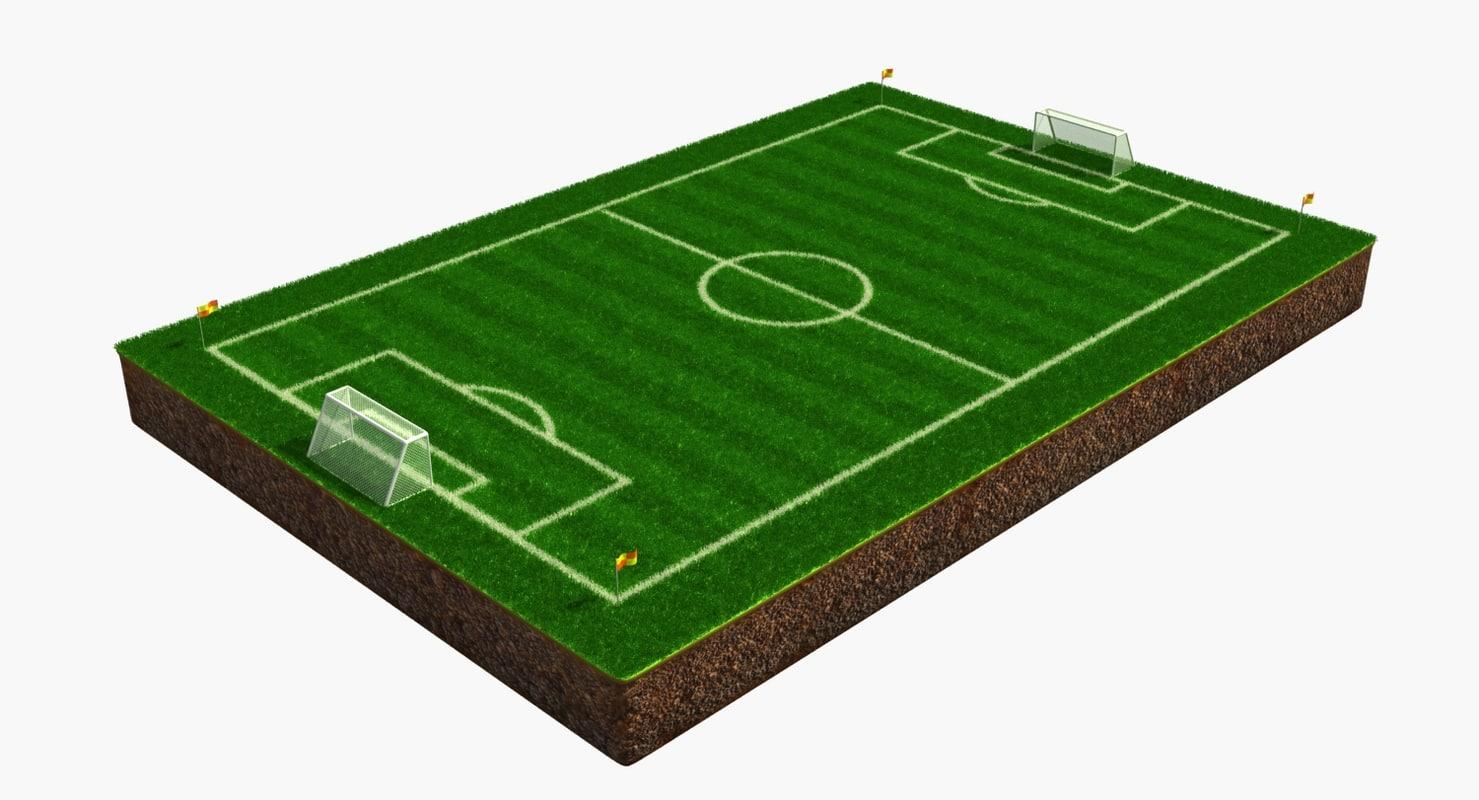 3d soccer field model