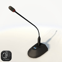 Conference microphone low poly