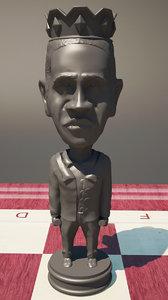 3d model chess obama