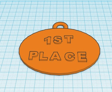 1st place medal 3d model