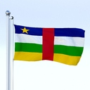 Central African Republic flag 3D models
