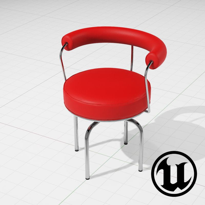 unreal lc7 swivel chair 3ds