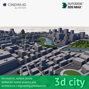 city stylized 3d model