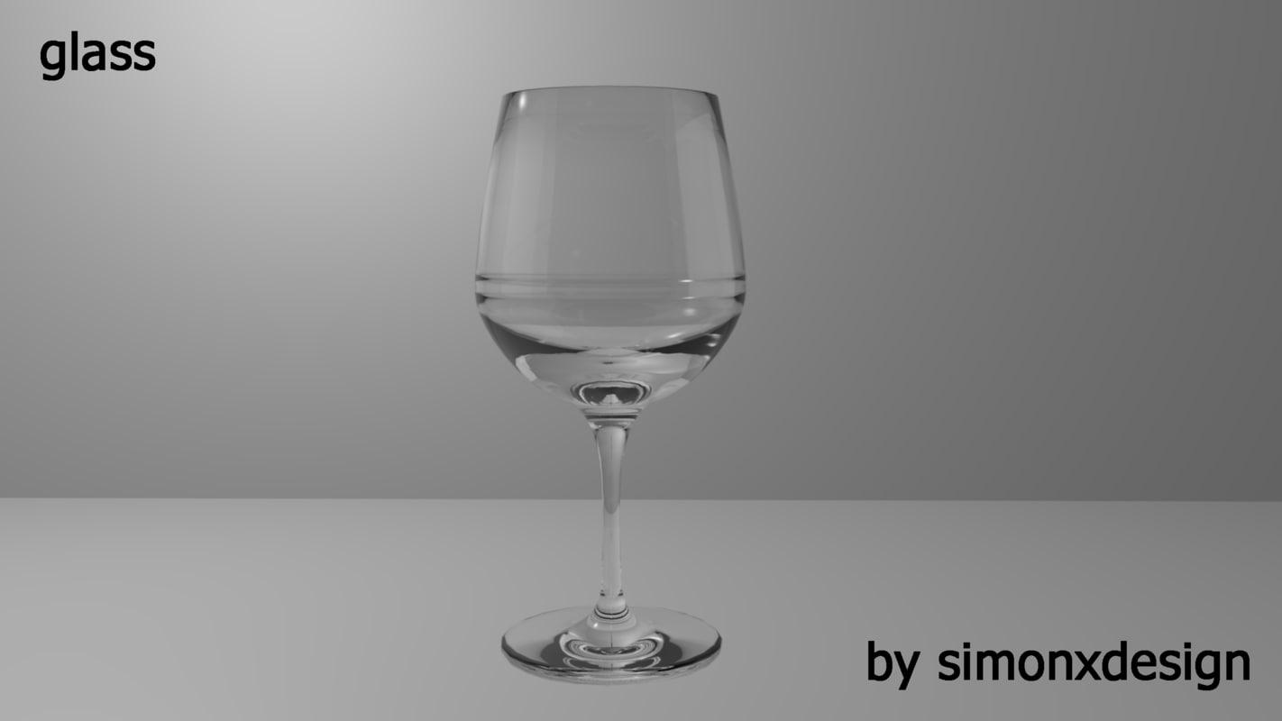 glass kitchen 3d c4d