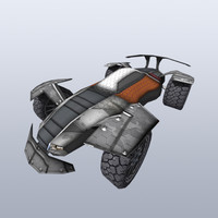 sci-fi buggy games 3d model
