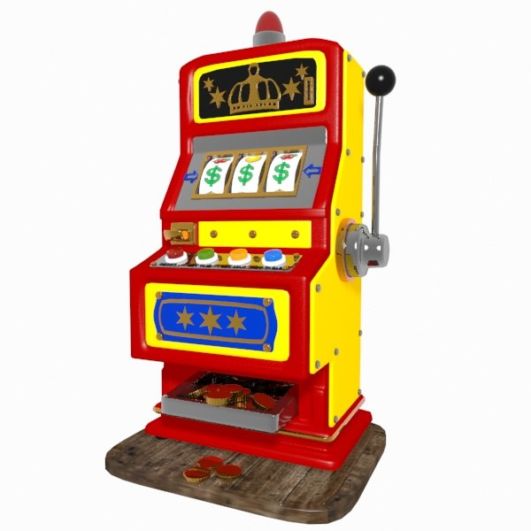 cartoon slot machine 3d model