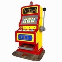 cartoon slot machine 3d model