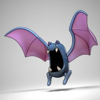 golbat pokemon 3d model