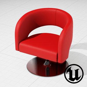 3ds unreal swivel furniture design