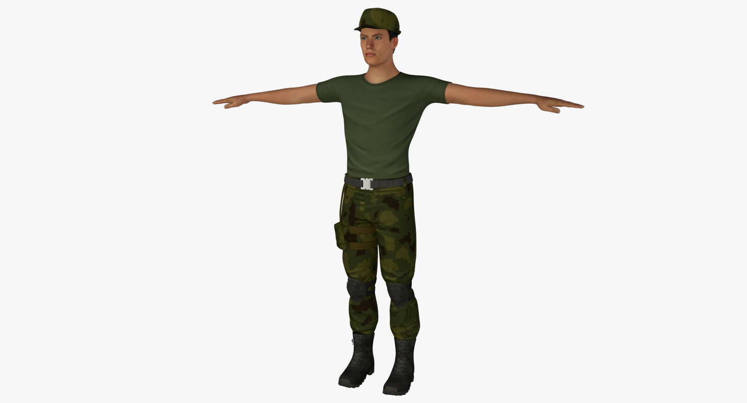 soldier t-shirt pants 3ds