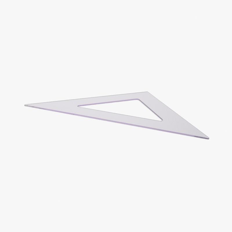 measuring-tool-set---triangle-01 3d model