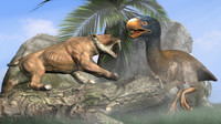 Titanis Walleri - Terror Bird RIGGED vs Smilodon