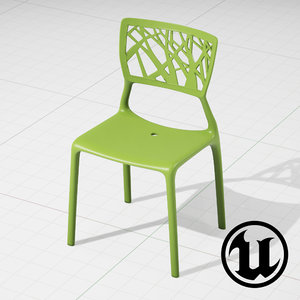 3d unreal viento dining chair