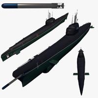 soviet submarine 3d c4d