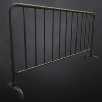 3d model metal barrier