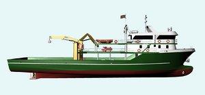 fishing vessel 3d model