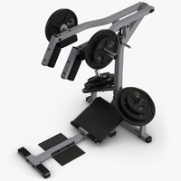 calf raise machine 3d model