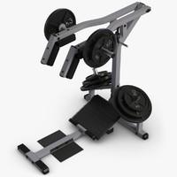 calf raise machine 3d model