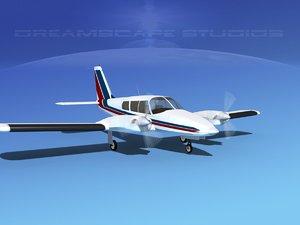 3d propeller pa-34 seneca model
