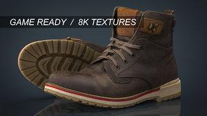 boots hiking 3d obj