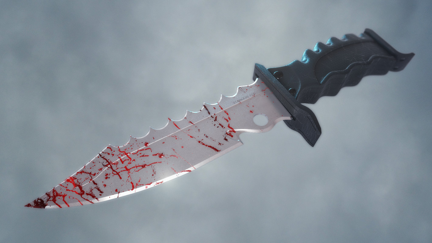 bloody knife 3d model