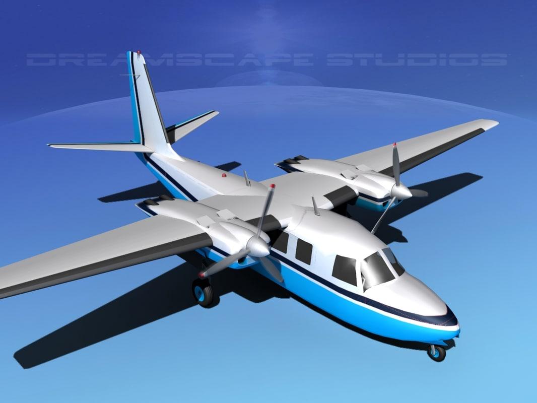 propellers aero commander 560 3d max