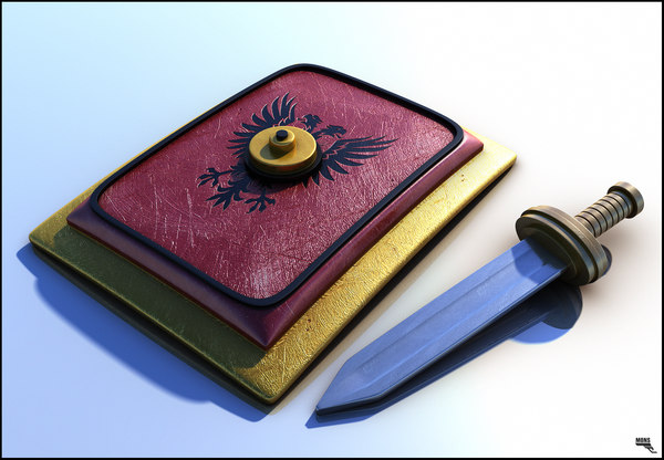 roman shield sword fbx free