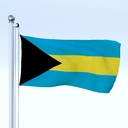 Bahamas Flag 3D models