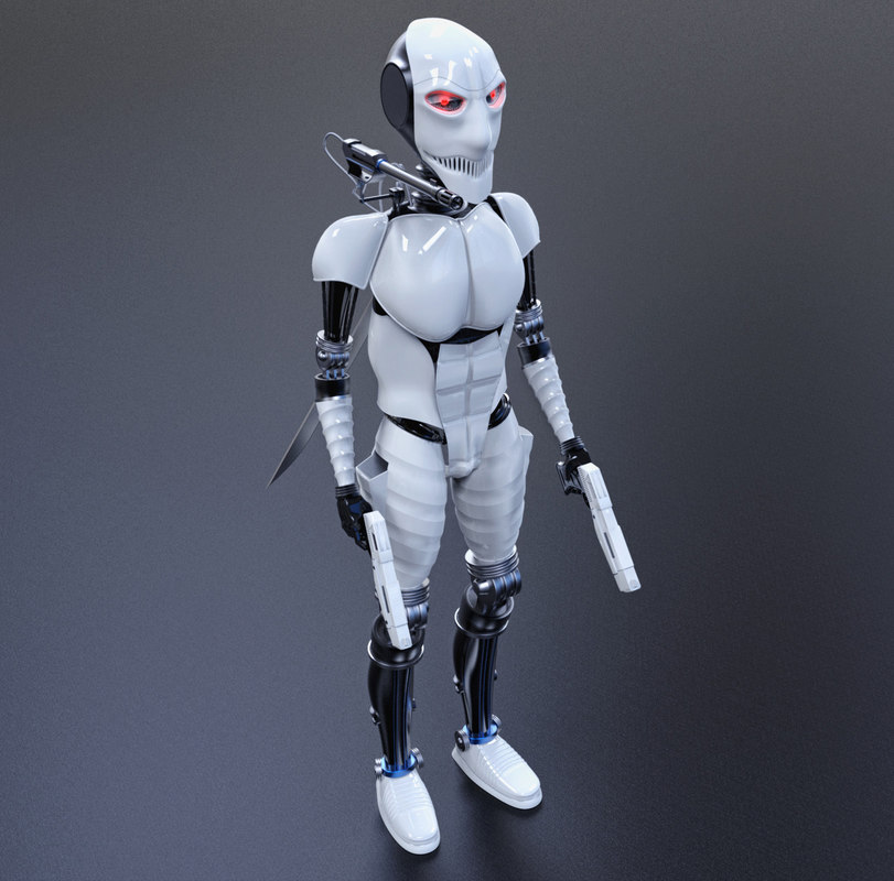 robot figurine 3d max