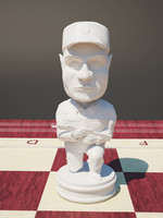 chess pawn 3d max
