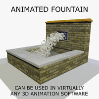 3d model water fountain animations 1