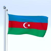 Animated Azerbaijan Flag