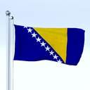 Bosnia And Herzegovina flag 3D models