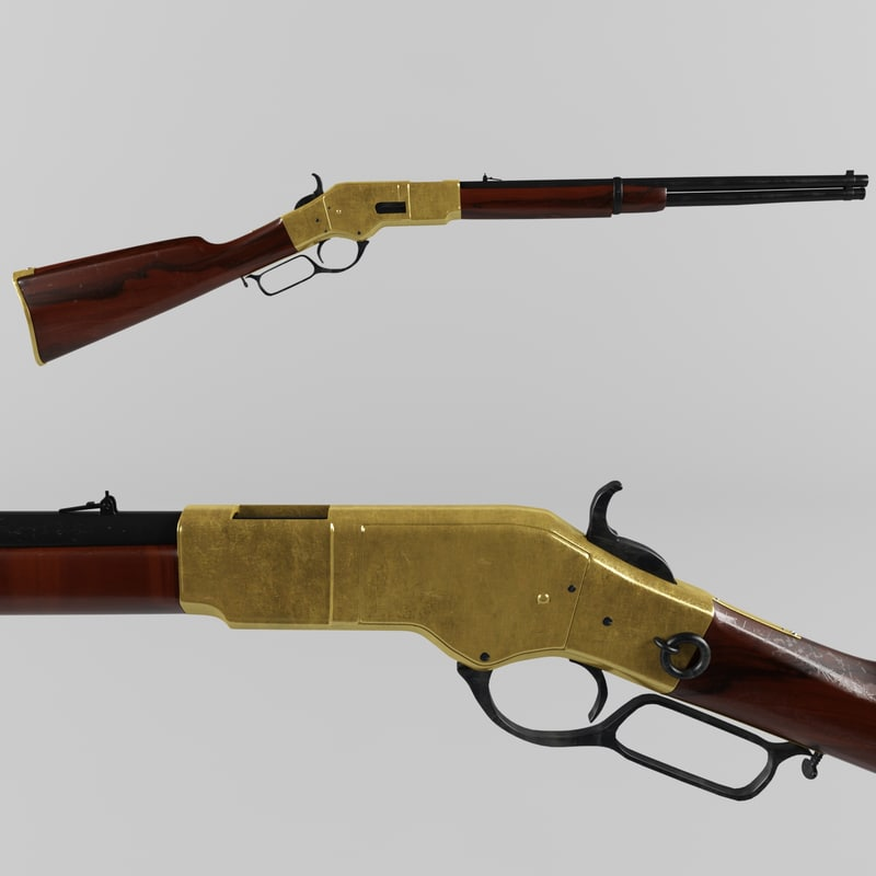 3d model winchester 1866 yellow boy