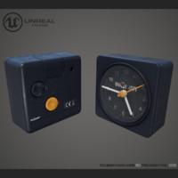 3d clock unreal model