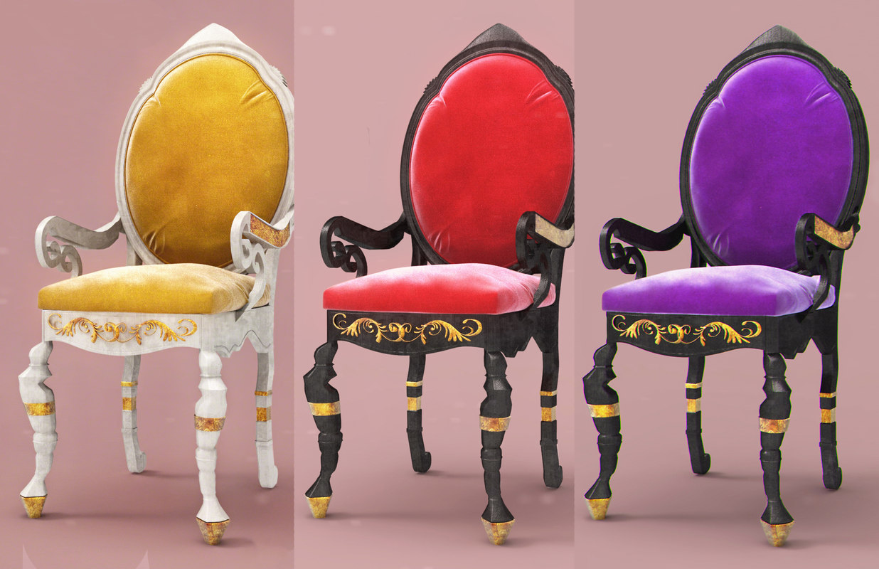 luxury chair 2 pc 3ds