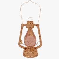 kerosene lamp 3d obj
