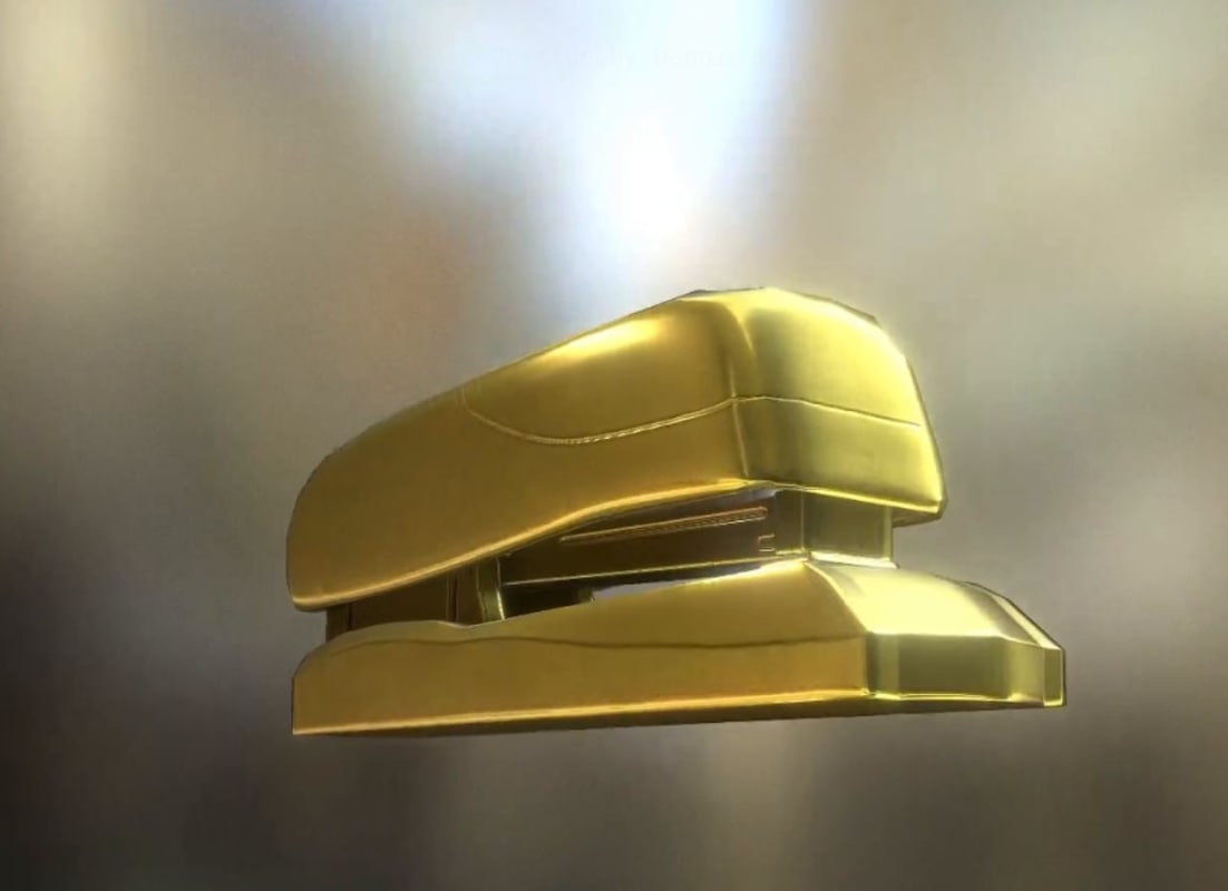 3ds stapler rigged gold
