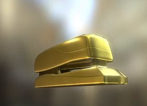 3ds stapler rigged gold