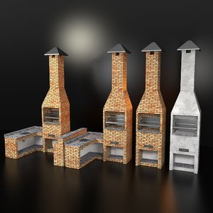 3d barbecue grill model