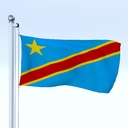 democratic republic of the congo flag 3D models