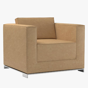 3d armchair b bernhardt design model