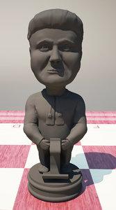3d model chess poroshenko